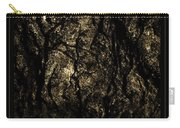 Abstract Gold And Black Texture Carry-all Pouch