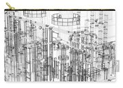 Abstract Industrial And Technology Background Carry-all Pouch