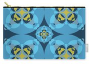 Abstract Mandala Cyan, Dark Blue And Yellow Pattern For Home Decoration Carry-all Pouch