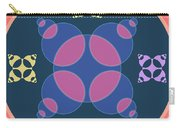 Abstract Mandala Pink, Dark Blue And Cyan Pattern For Home Decoration Carry-all Pouch