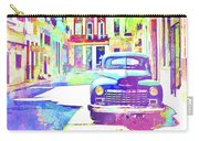Abstract Watercolor - Havana Cuba Classic Car IIi Carry-all Pouch