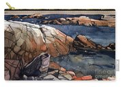 Acadia Rocks Carry-all Pouch by Donald Maier