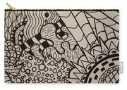 Aceo Zentangle Abstract Design Carry-all Pouch