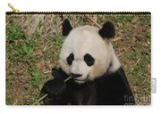 Adorable Giant Panda Eating A Green Shoot Of Bamboo Carry-all Pouch