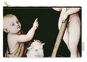 Adoration Of The Child Jesus By St John The Baptist Carry-all Pouch