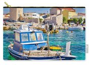 Adriatic Town Of Razanac Colorful Waterfront Carry-all Pouch