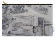 Aerial View Of Open Pit Sand Quarries.  View From Above.  Carry-all Pouch