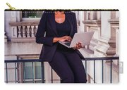 African American Businesswoman Working In New York Carry-all Pouch
