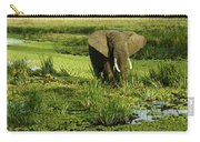 African Elephant In Swamp Carry-all Pouch