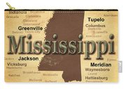 Aged Mississippi State Pride Map Silhouette  Carry-all Pouch