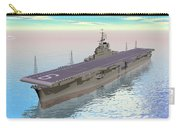 Aircraft Carrier - 3d Render Carry-all Pouch