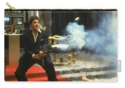 Al Pacino As Tony Montana With Machine Gun Blasting His Fellow Bad Guys Scarface 1983 Carry-all Pouch