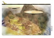 Alien Ufos Over Machu Picchu Carry-all Pouch