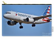 American Airlines Plane Preparing To Land At The Bwi Airport Carry-all Pouch