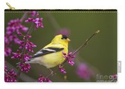 American Goldfinch In Redbud Carry-all Pouch