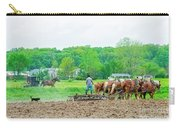 Amish Boy Disking Carry-all Pouch