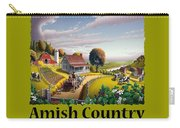 Amish Country T Shirt - Appalachian Blackberry Patch Country Farm Landscape Carry-all Pouch