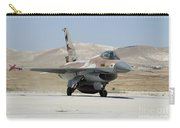 An Israeli Air Force F-16a Netz Taxiing Carry-all Pouch