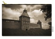 Ancient Walls. Sepia Carry-all Pouch