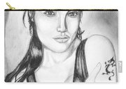 Angelina Jolie Portrait Carry-all Pouch