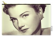 Anne Baxter, Vintage Actress Carry-all Pouch