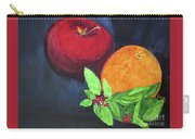 Apple, Orange And Red Basil Carry-all Pouch
