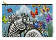Armadillos Bluebonnets And Butterflies Carry-all Pouch
