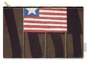 Art Homage Jasper Johns Flag Window Silver Dollar Bar Eloy Arizona 2004 Carry-all Pouch