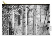 Aspen Trees In Black And White Carry-all Pouch
