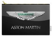Aston Martin 3 D Badge On Black  Carry-all Pouch