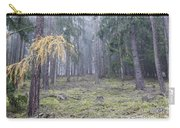 Autumn Coniferous Forest In The Morning Mist Carry-all Pouch