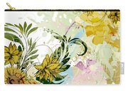 Autumn Sunflower Digital Illustration Carry-all Pouch