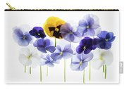 Backlit Pansies   Carry-all Pouch