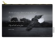 Bald Eagle In Flight With Bible Verse Carry-all Pouch