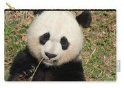 Bamboo Sticking Out Of The Mouth Of A Giant Panda Bear Carry-all Pouch