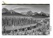 Banff Bow River Black And White Carry-all Pouch
