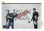 Banksy - The Tribute - Follow Your Dreams - Steve Jobs Carry-all Pouch by Serge Averbukh
