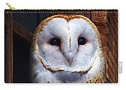 Barn Owl  Carry-all Pouch by Anthony Jones