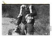 Barry Sadler With Sons And Family Collie Tucson Arizona 1971 Carry-all Pouch
