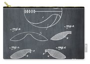 Basketball Patent 1916 Black Carry-all Pouch