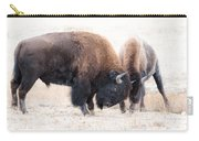 Battle Of The Bison In Rut Carry-all Pouch