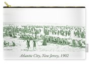 Beach, Bathers, Ocean, Atlantic City, New Jersey, 1902 Carry-all Pouch
