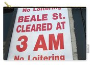 Beale Street Sign Carry-all Pouch
