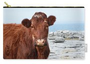 Beautiful Brown Cow On The Burren In Ireland Carry-all Pouch