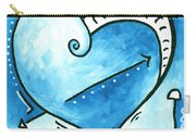 Beautiful Original Acrylic Heart Painting From The Pop Of Love Collection By Madart Carry-all Pouch