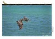 Beautiful Pelican In Flight Over The Water In Aruba Carry-all Pouch