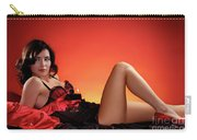 Beautiful Woman With A Glass Of Wine Carry-all Pouch