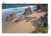 Bedruthan Steps Beach And Atlantic Surf In Summer Sun Cornwall  Carry-all Pouch