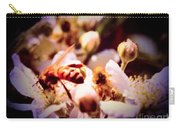 Bee On Apple Blossoms Carry-all Pouch