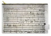 Beethoven Manuscript Carry-all Pouch by Granger